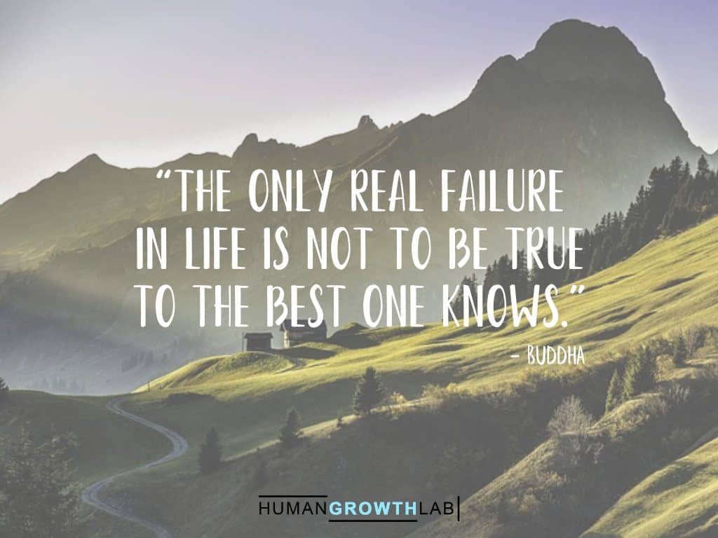 "Buddha quote on failure - ""The only real failure 
