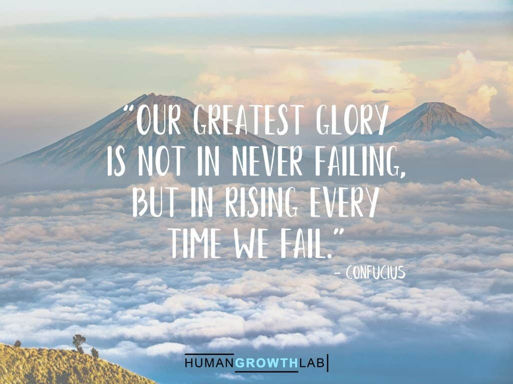 "Confucius quote on failure - ""Our greatest glory 