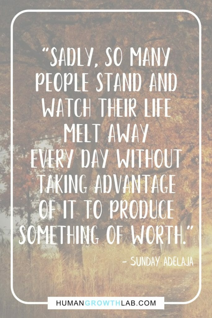 "Sunday Adelaja quote on wasting life - ""Sadly, so many 