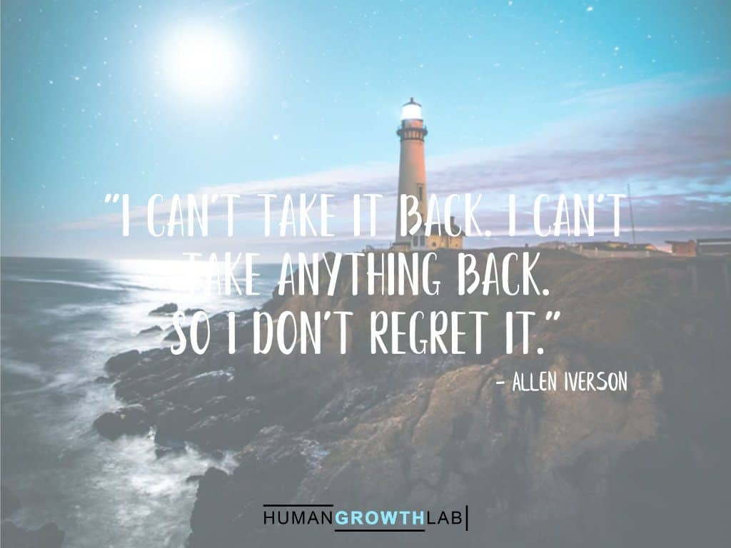 "Allen Iverson quote on regrets - ""I can't take it back. I can't 