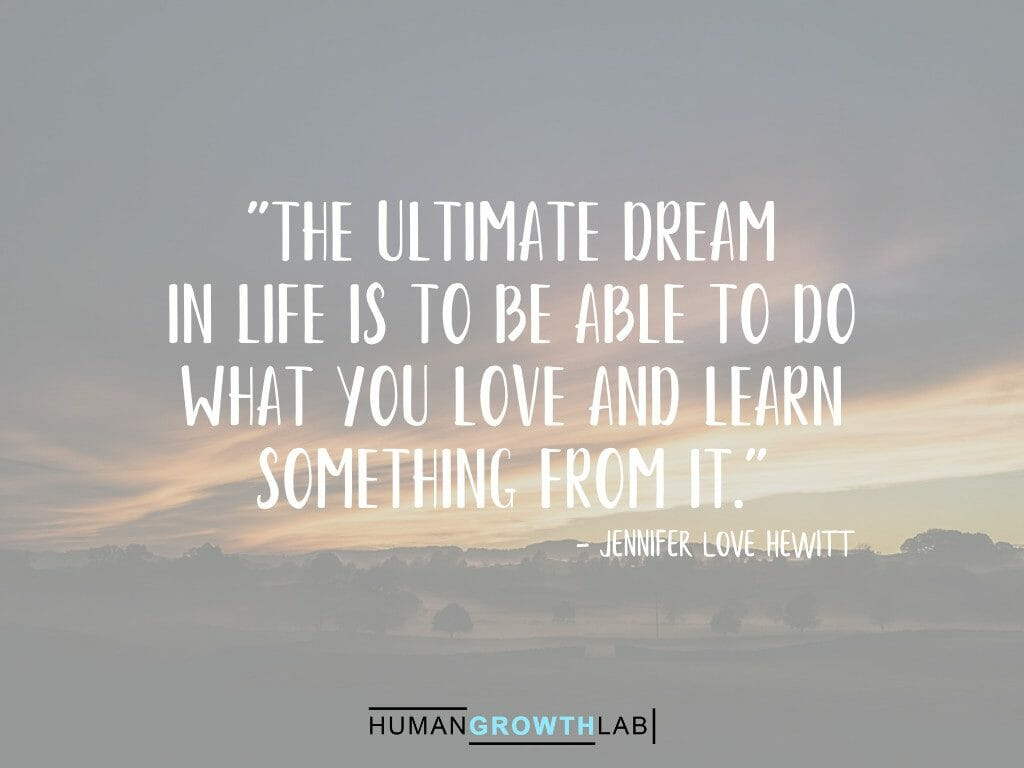 "Jennifer Love Hewitt on the ultimate dream of doing what you love - ""The ultimate dream 