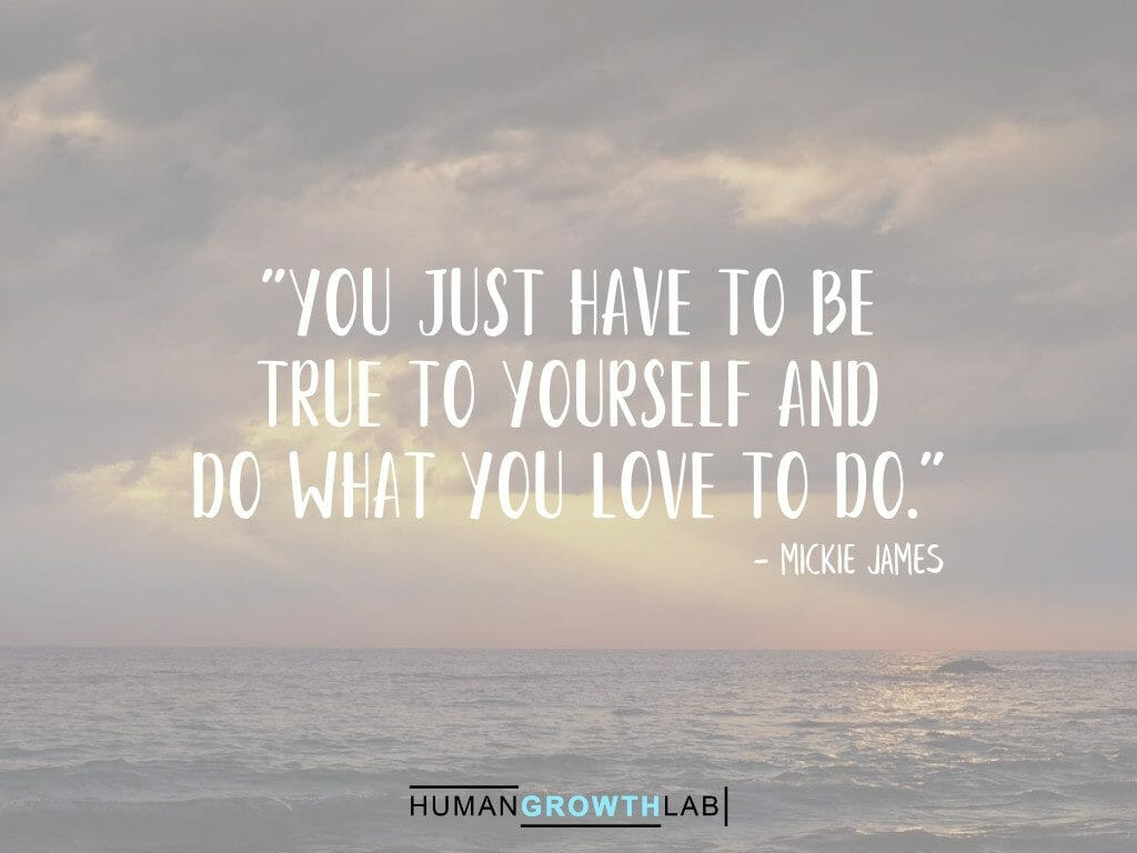 "Mickie James quote on being true to yourself - ""You just have to be 