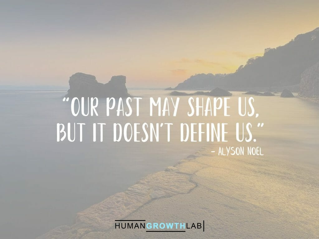 "Alyson Noel quote on defining yourself - ""Our past may shape us, 