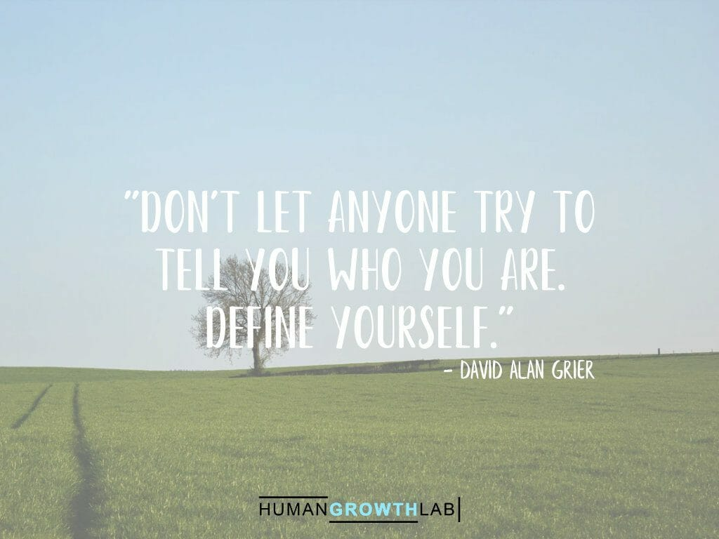 "David Alan Grier quote on defining yourself - ""Don't let anyone try to 
