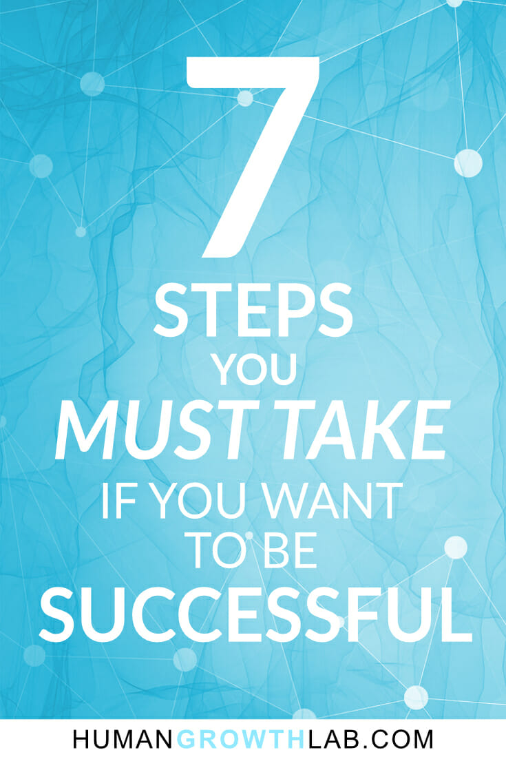 7 Steps You Must Take if You Want to be Successful