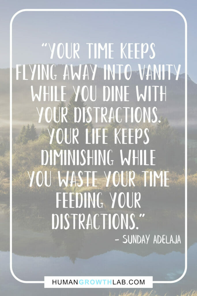 "Sunday Adelaja quote on things that waste your time - ""Your time keeps 