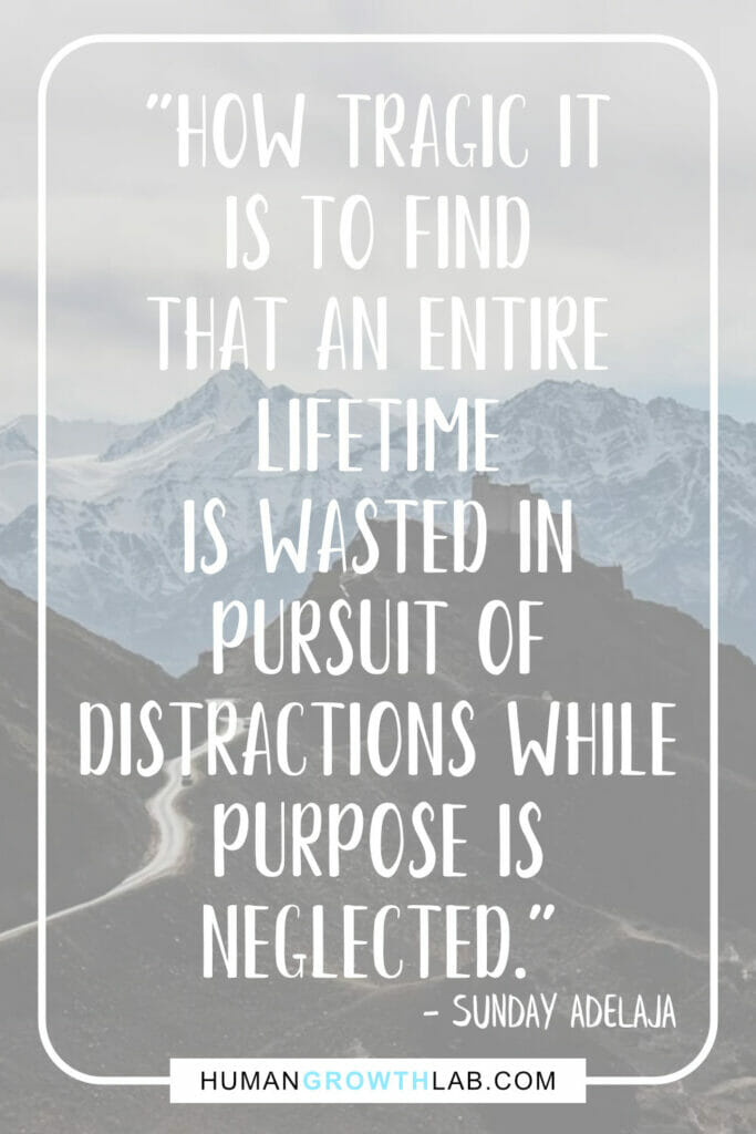 "Sunday Adelaja quote on wasting time with distractions - ""How tragic it 