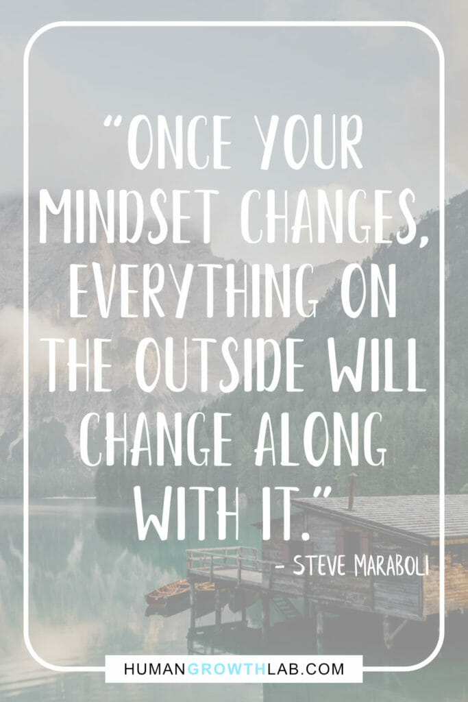Steve Maraboli quote on mindset and not sucking - 