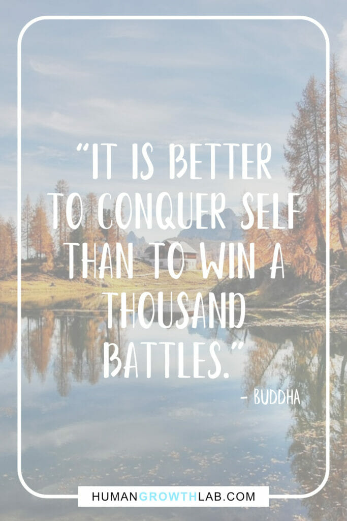 "Buddha self discipline quote - ""It is better 