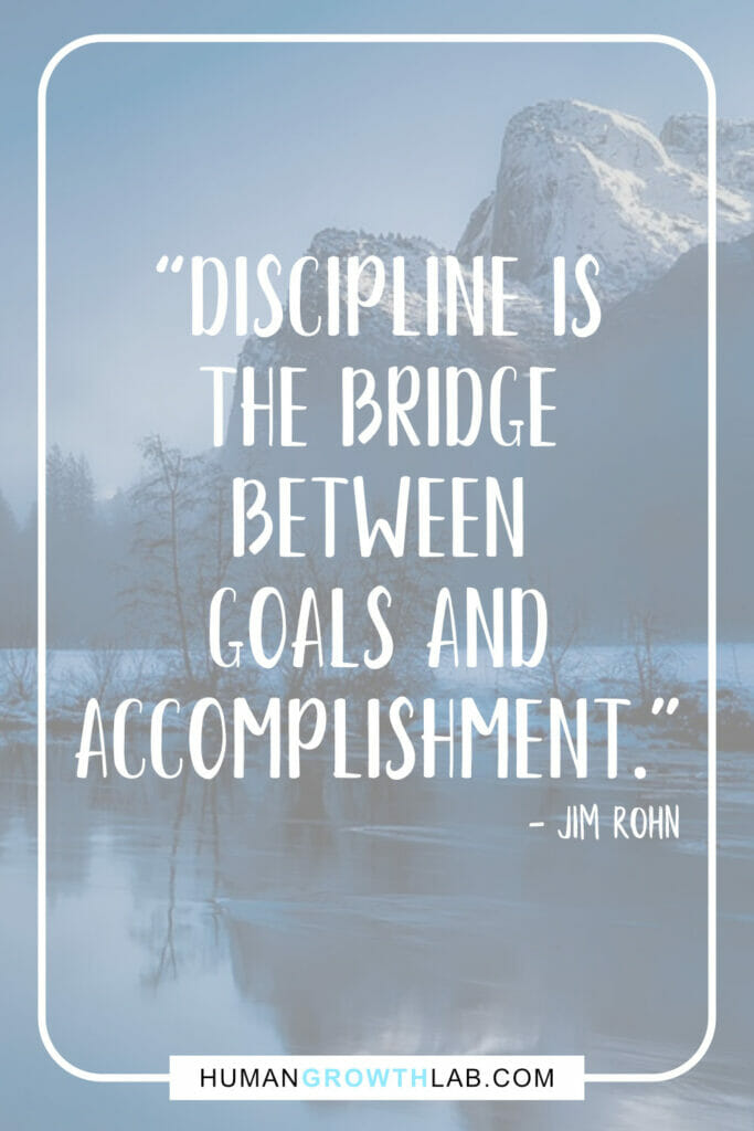 "Jim Rohn self discipline quote - ""Discipline is 