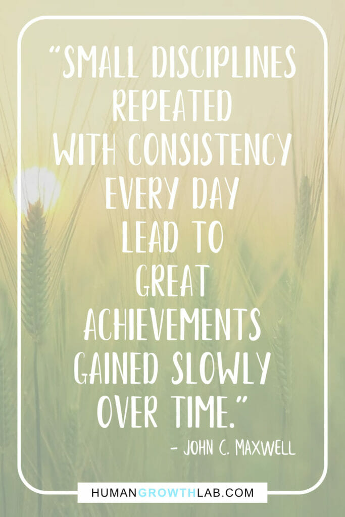 "John C Maxwell quote about self discipline - ""Small disciplines 