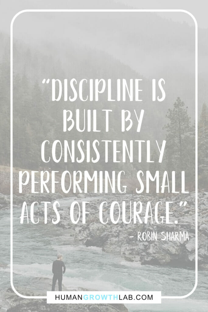 "Robin Sharma self discipline quote - ""Discipline is 