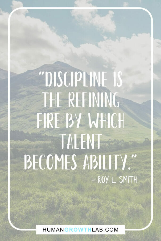 "Roy L Smith self discipline quote - ""Discipline is 