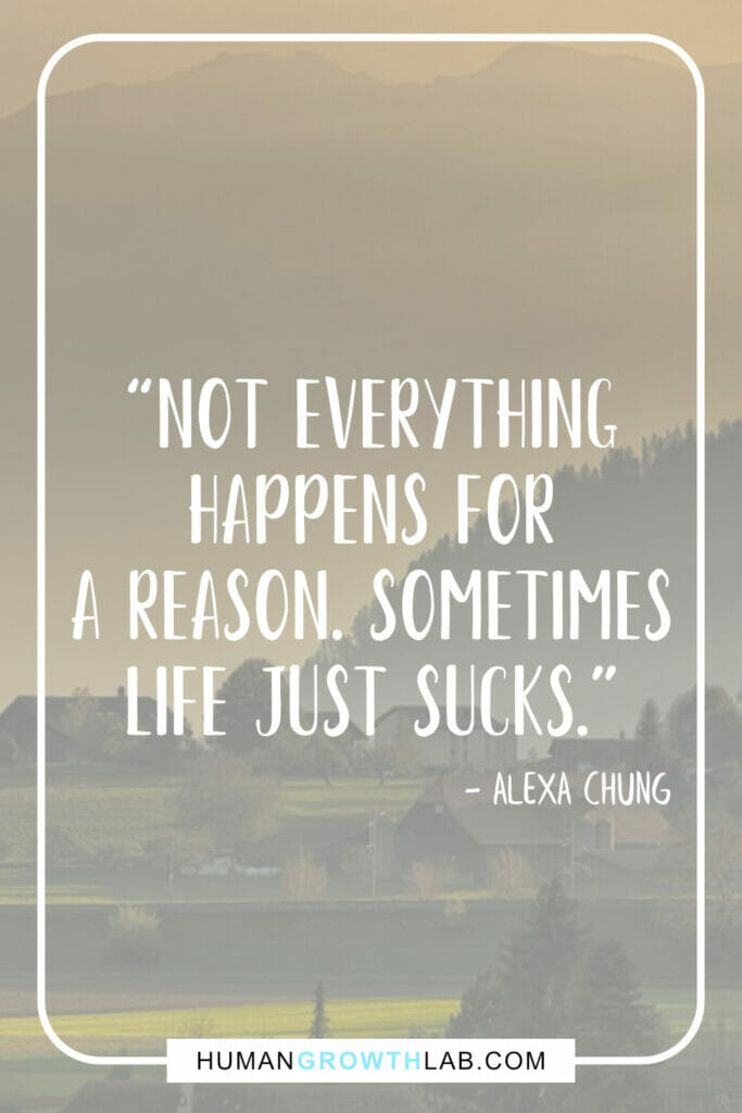 "Alexa Chung life sucks quotes - ""Not everything 