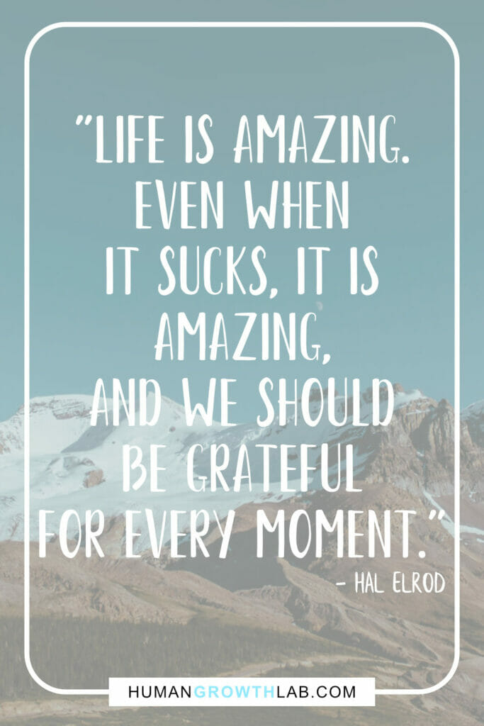 "Hal Elrod life sucks quote - ""Life is amazing. 